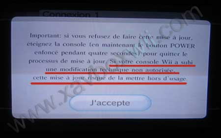 attention aux wii modifiées